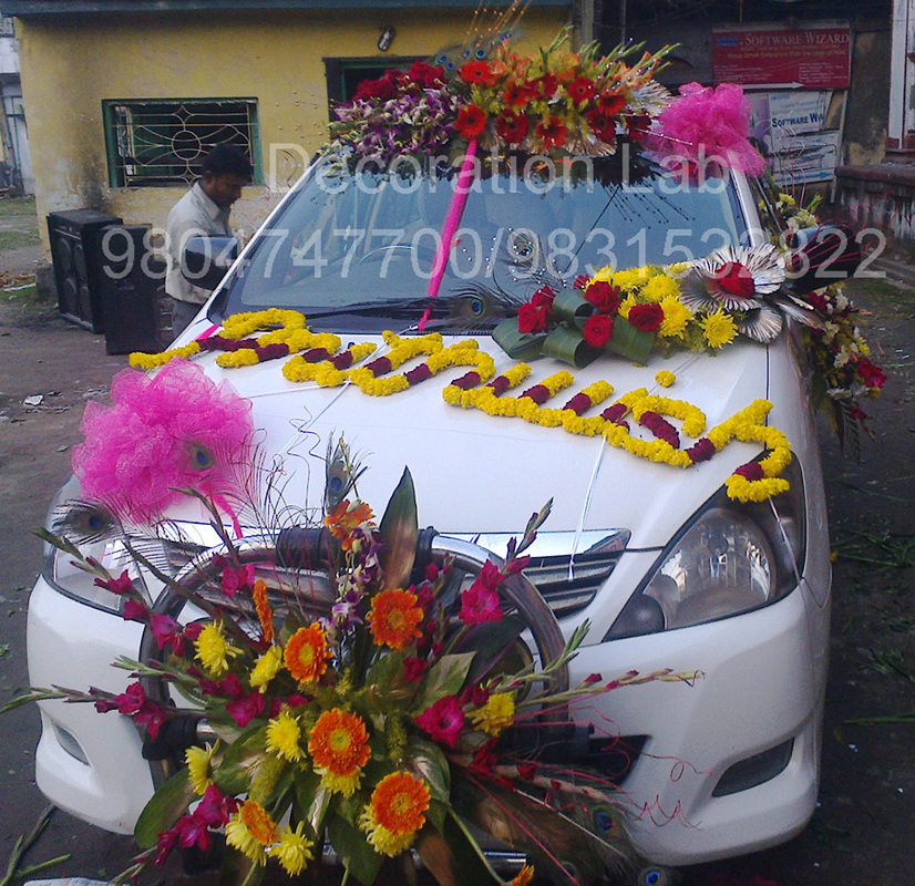 Car decoration wedding decorations in kolkata flower decoration kolkata decoration lab for Photo decoration