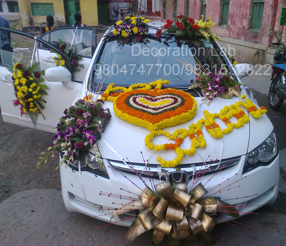 Car decoration wedding decorations in kolkata flower for Automotive decoration